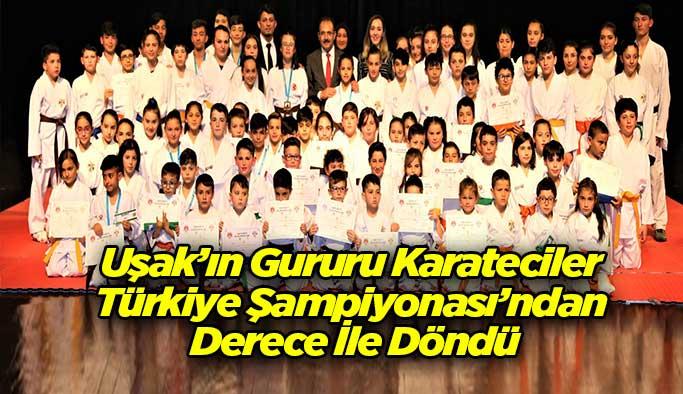 Uşak'ın Gururu Karateciler Türkiye Şampiyonası'ndan Derece İle Döndü