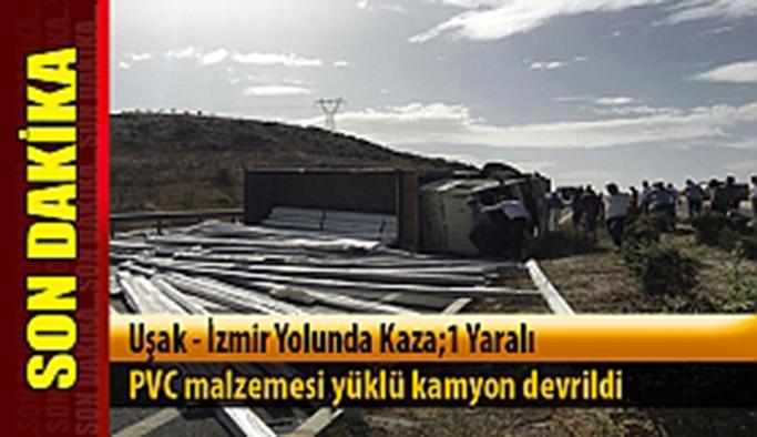 Uşak'ta trafik kazası : 1 yaralı