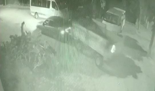 4 dakikada yapılan römork hırsızlığı güvenlik kamerasında