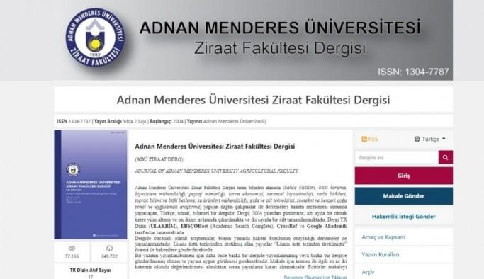 ADÜ Ziraat Fakültesi Dergisi online erişim ile bilim insanlarına sunuldu