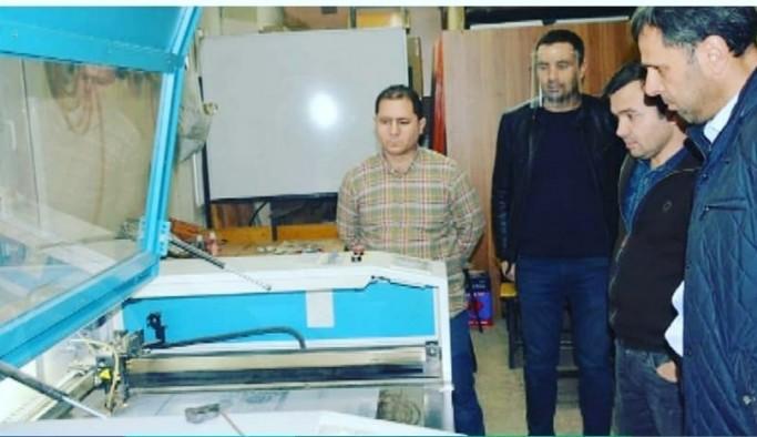 Kayhan Ergun Meslek Lisesi siperli tıbbi maske üretimine başladı