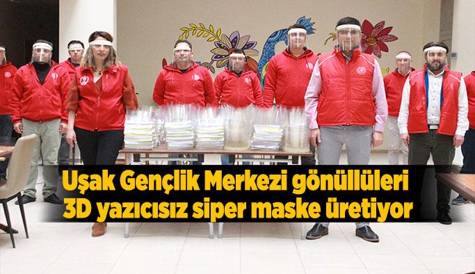 Seri üretim ile 10 günde 10 bin 'siper maske' üretmeyi hedefliyorlar