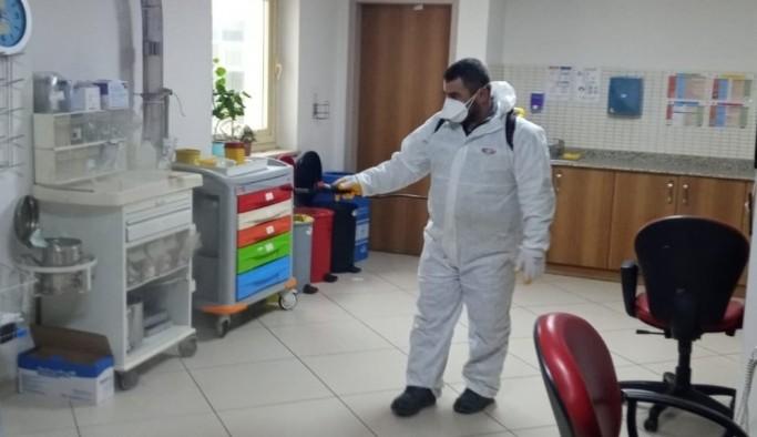 Turgutlu Belediyesi'nden dezenfekte mesaisi