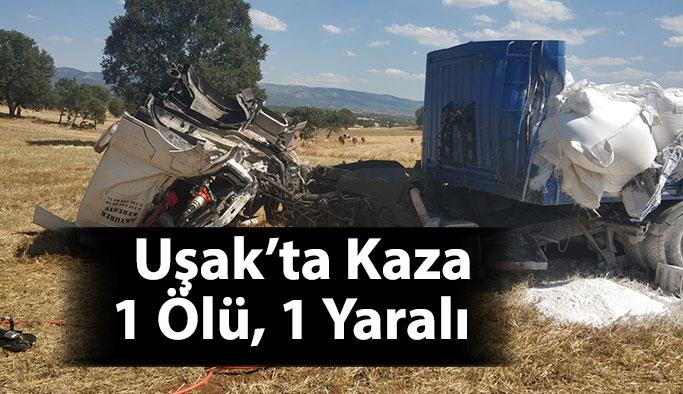 Uşak'ta Kaza 1 Ölü, 1 Yaralı