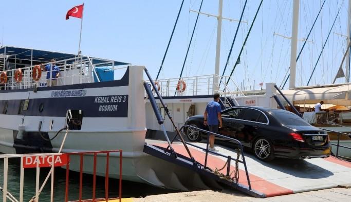Bodrum-Datça feribot seferlerine yoğun ilgi