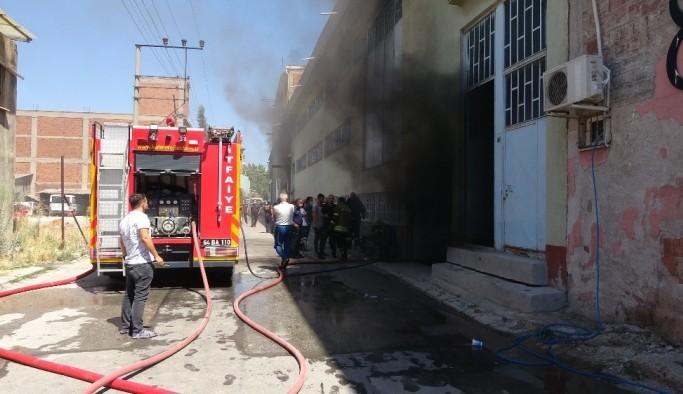 Uşak'ta Fabrikada çıkan yangın korkuttu