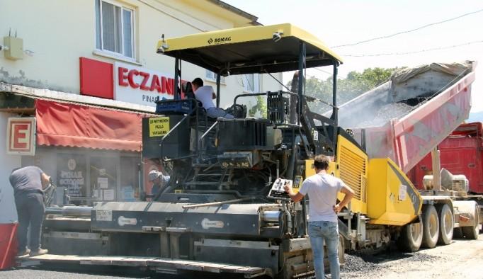 Ula Belediyesinden asfalt çalışması