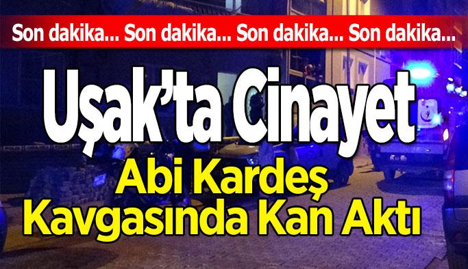 Uşak'ta Cinayet, Abi Kardeş Kavgasında Kan Aktı