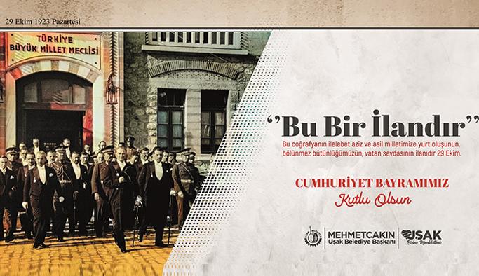 Başkan Çakın'dan Cumhuriyet Bayramı Mesajı