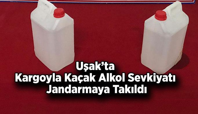 Uşak'ta Kargoyla Kaçak Alkol Sevkiyatı Jandarmaya Takıldı