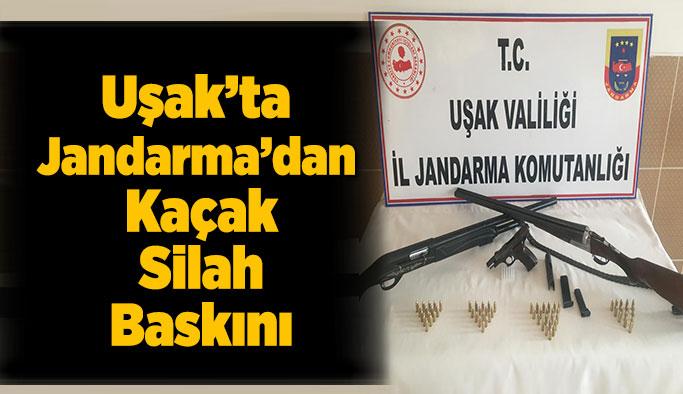 Uşak'ta Jandarma'dan Kaçak Silah Baskını