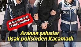 Aranan şahıslar Uşak polisinden Kaçamadı