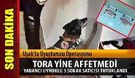 Uşak'ta uyuşturucu ticaretine, 3 tutuklama