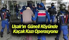 Uşak'ın Güneli Köyünde Jandarma'dan Kaçak Kazı Operasyonu