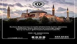 Rektör Prof. Dr. Ekrem SAVAŞ'ın Kurban Bayramı Mesajı