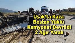 Uşak'ta Kaza; 2 yaralı