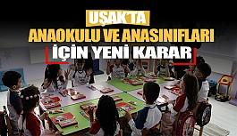 Uşak'ta ana okul ile anasınıfı uzaktan eğitim kararı alındı
