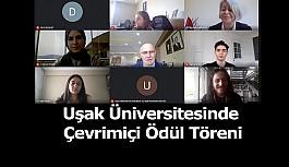Uşak Üniversitesinde Çevrimiçi Ödül Töreni