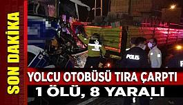 Uşak'ta Kaza, Yolcu Otobüsü Tıra Çarptı,...