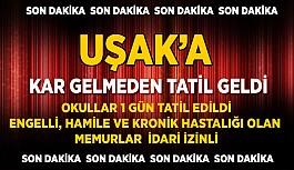 Uşak'a Kar Gelmeden Tatil Geldi. Okullar...