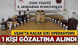 Uşak'ta Kaçak içki Operasyonu, 1 Gözaltı